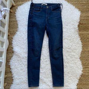 ZARA Lace Up Skinny Jeans 6